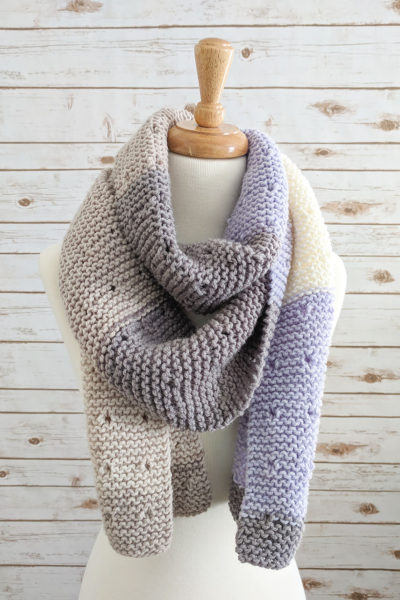 Star Dust Knitted Garter Stitch Scarf Pattern
