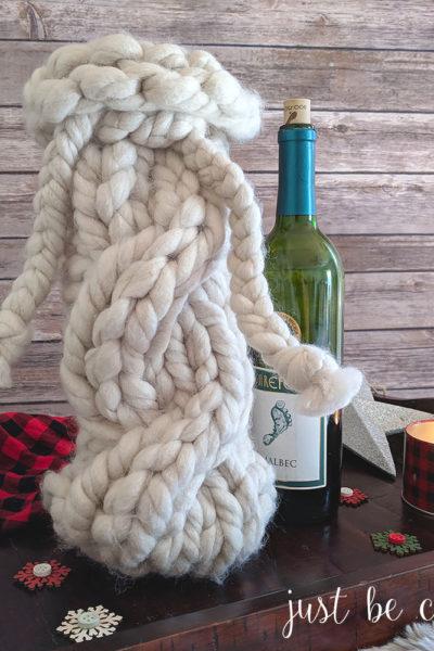 Chunky Knitted Wine Bottle Sweater Pattern