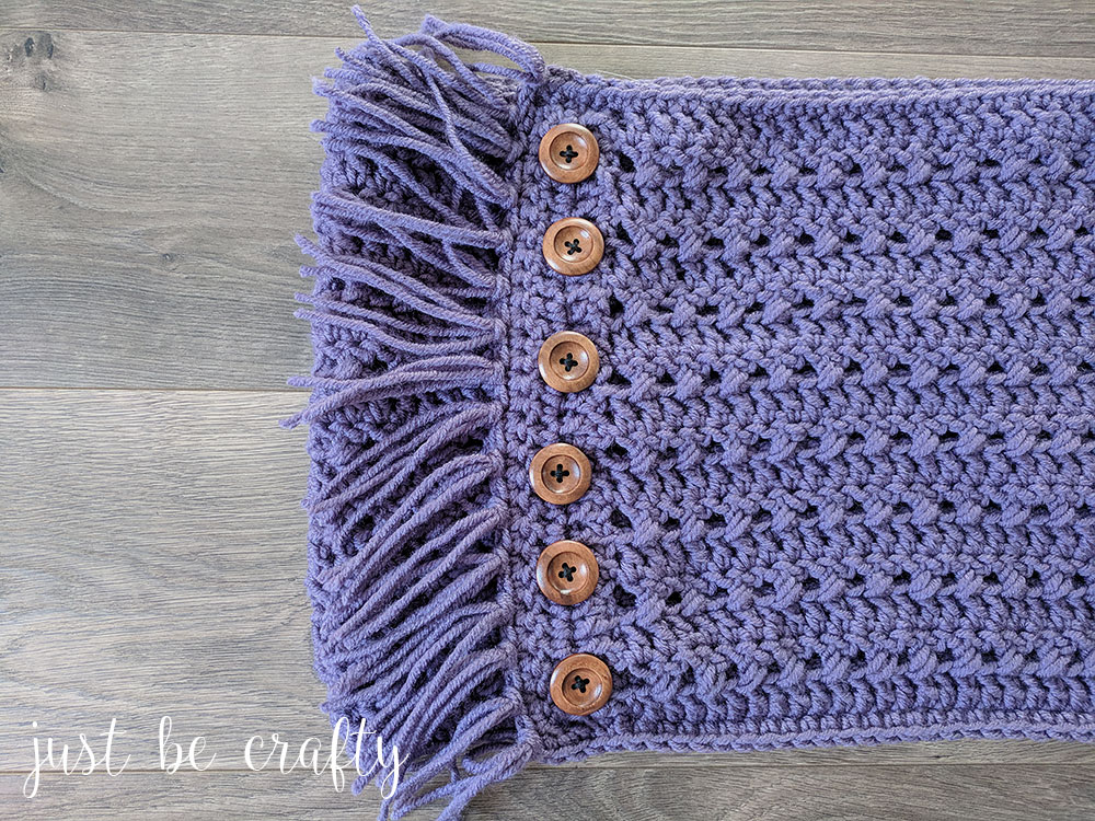 Textured Woodland Crochet Cowl