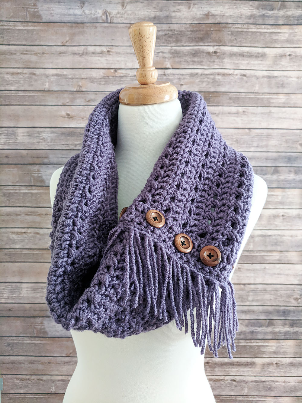 Textured Woodland Crochet Cowl Pattern Free Pattern By