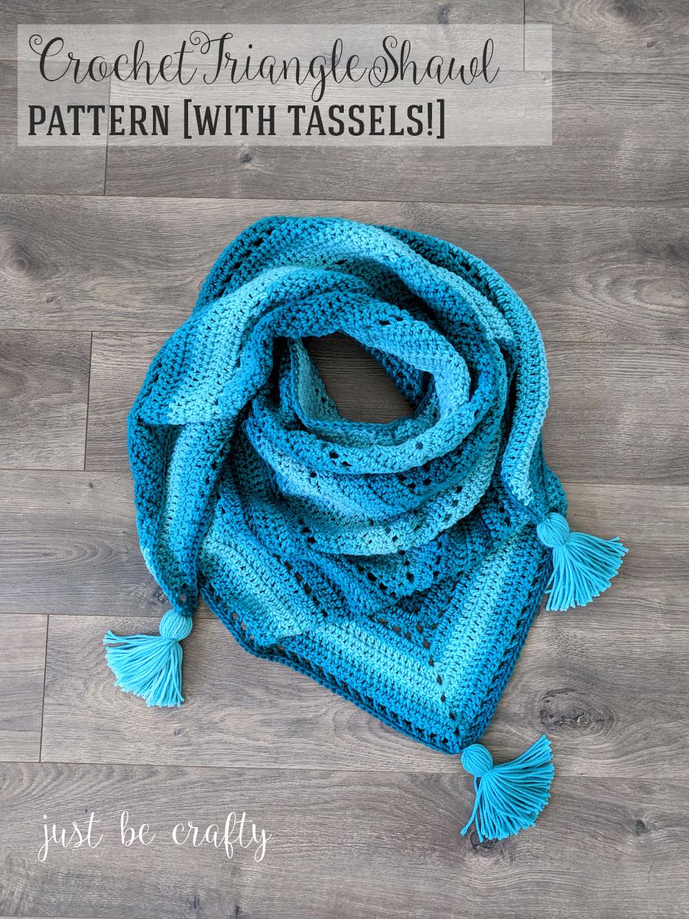 Crochet Triangle Shawl Pattern - Free Crochet Pattern by Just Be Crafty