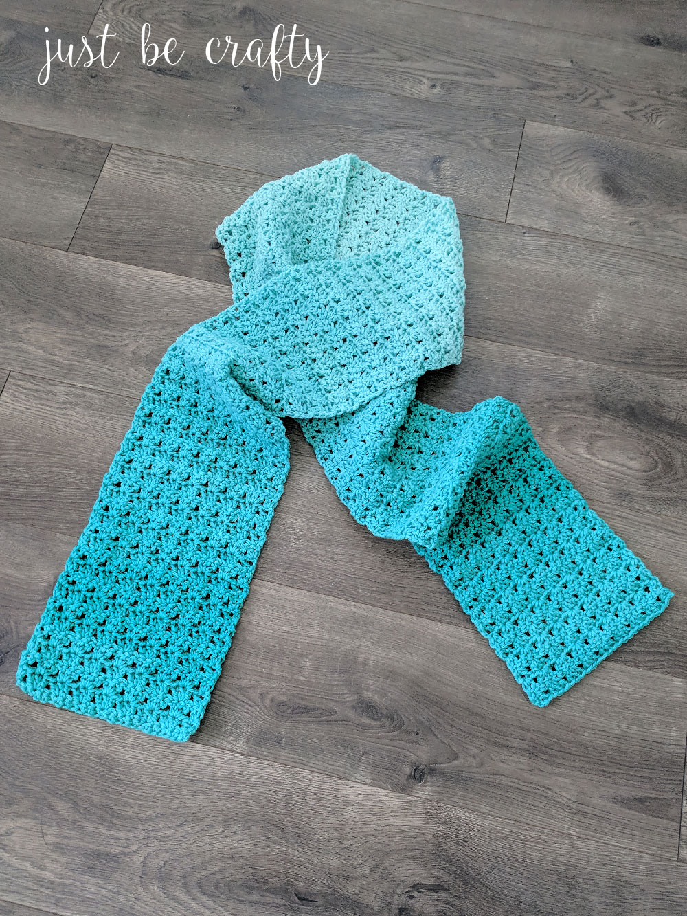 Green Meadows Crochet Scarf Pattern | Free Crochet Pattern by Just Be Crafty