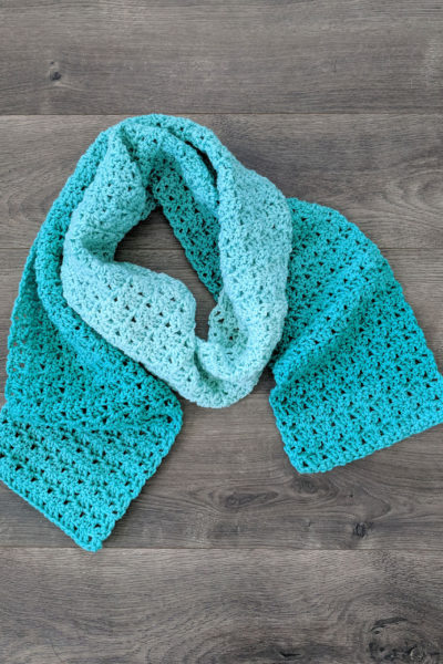 Green Meadows Crochet Scarf Pattern