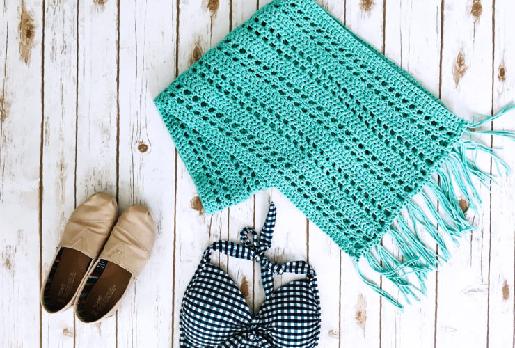 Sunset Beach Wrap Crochet Pattern
