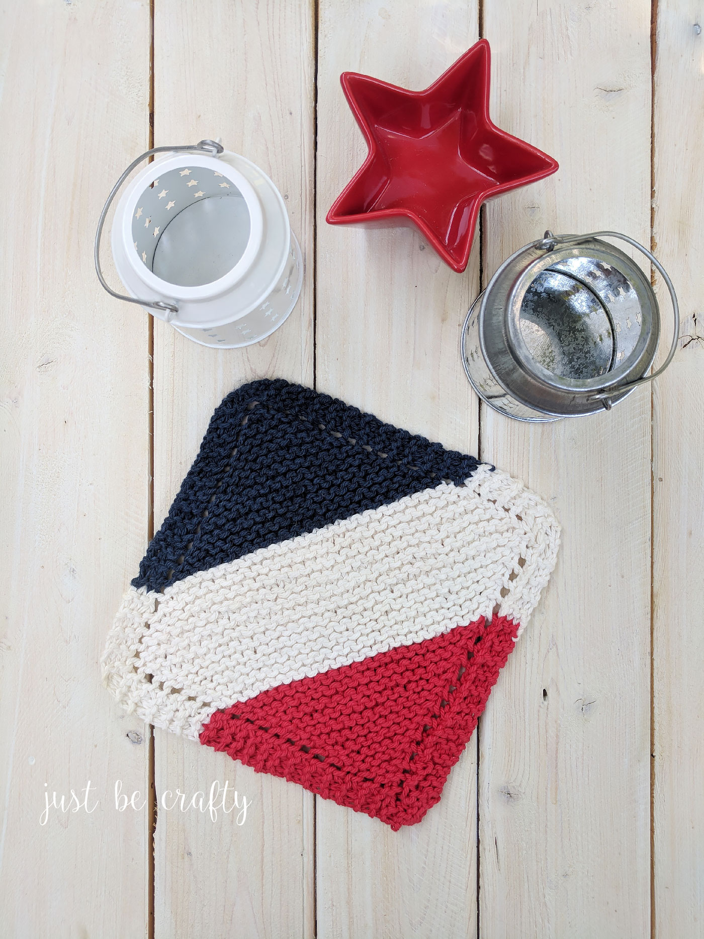 Classic Knitted Dishcloth Pattern