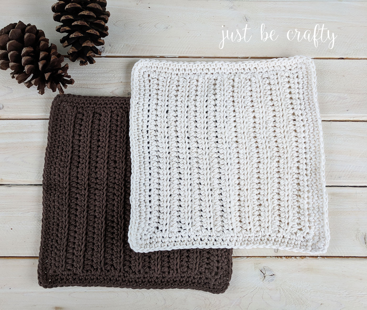 Woodland Cottage Crochet Dishcloth Pattern