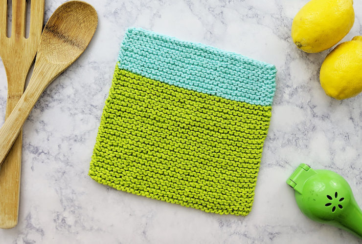 Beach House Knitted Dishcloth – Free Pattern