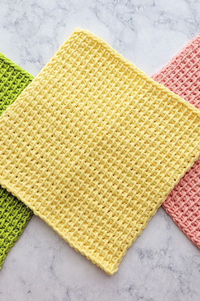 Tunisian Simple Stitch Dishcloths