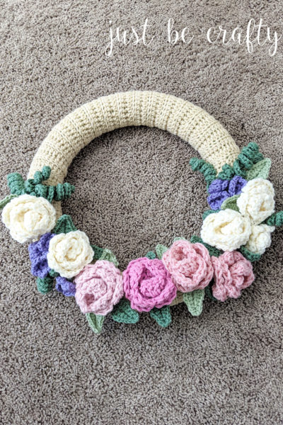 Crochet Spring Floral Wreath Pattern Part 2: Video Tutorials + Assembly