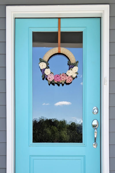 Crochet Spring Floral Wreath Pattern – Part 1
