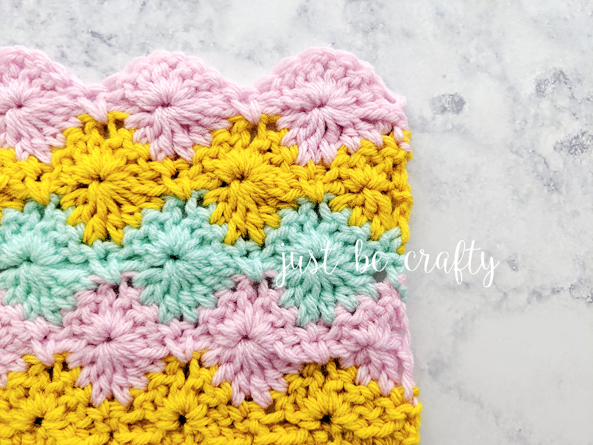 How to crochet the Harlequin Stitch - Video Tutorial