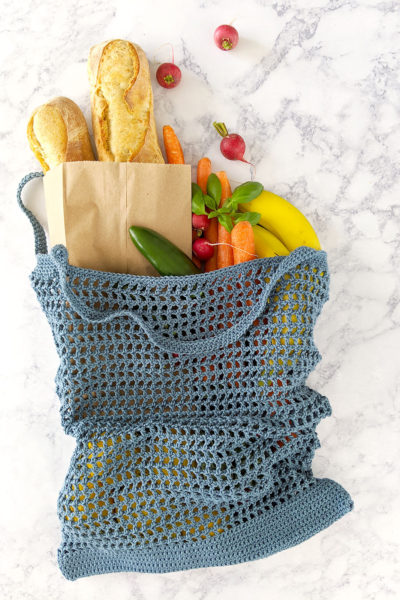 Veggie Stand Market Bag – Free Crochet Pattern & Video Tutorial