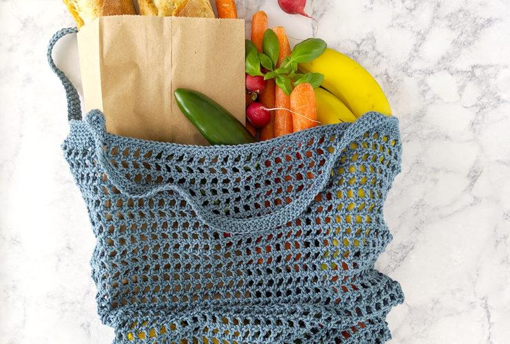 Veggie Stand Market Bag – Free Crochet Pattern & Video Tutorial