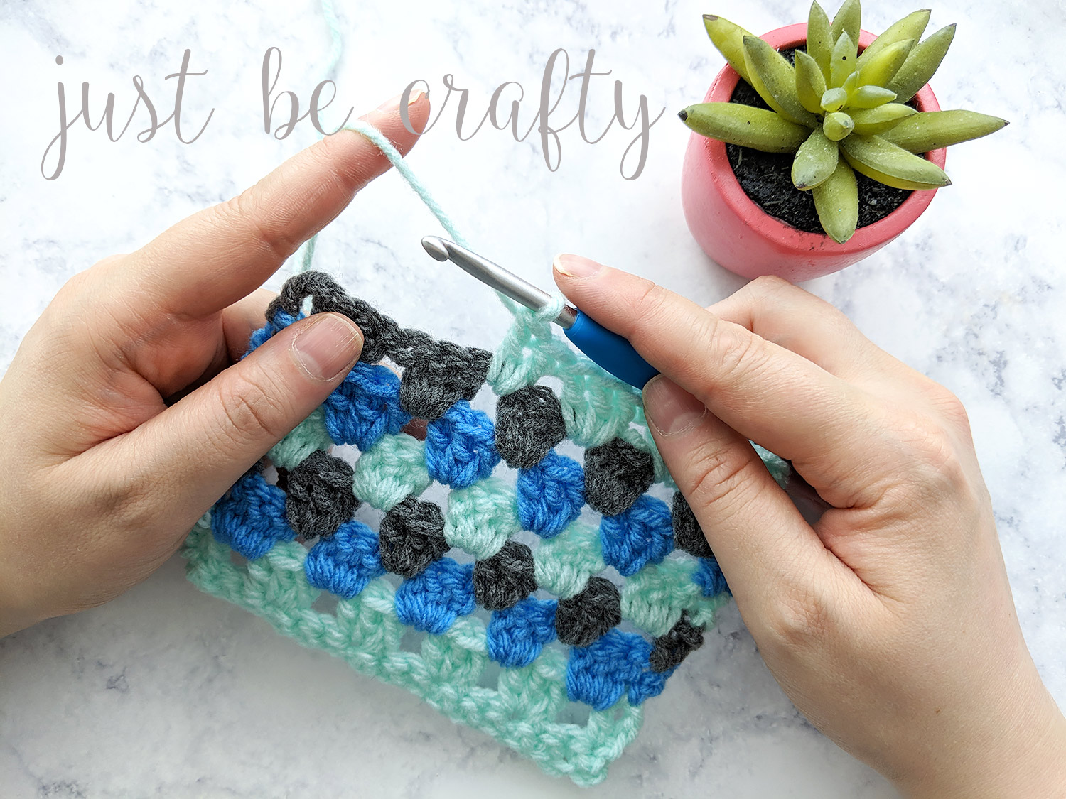 Granny Stripe Stitch Tutorial - Free Pattern by Just Be Crafty