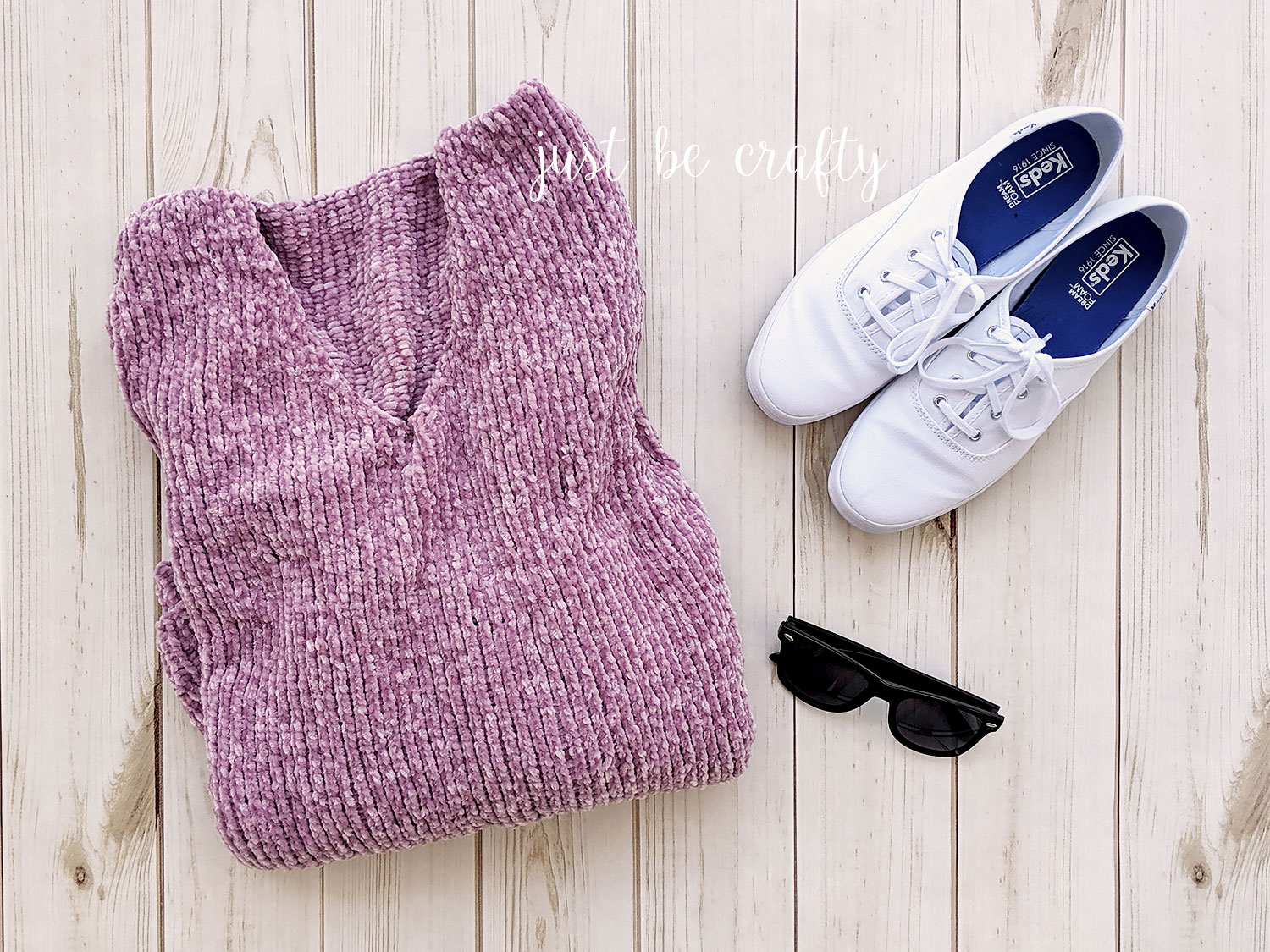 Velvet Slouchy V-Neck Sweater