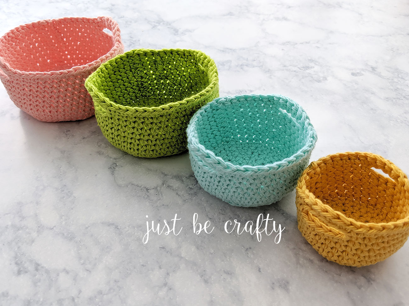 Crochet Nesting Mini Basket Tutorial