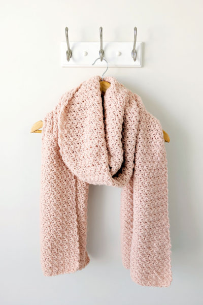Shimmer Crochet Scarf - Free Pattern by Just Be Crafty