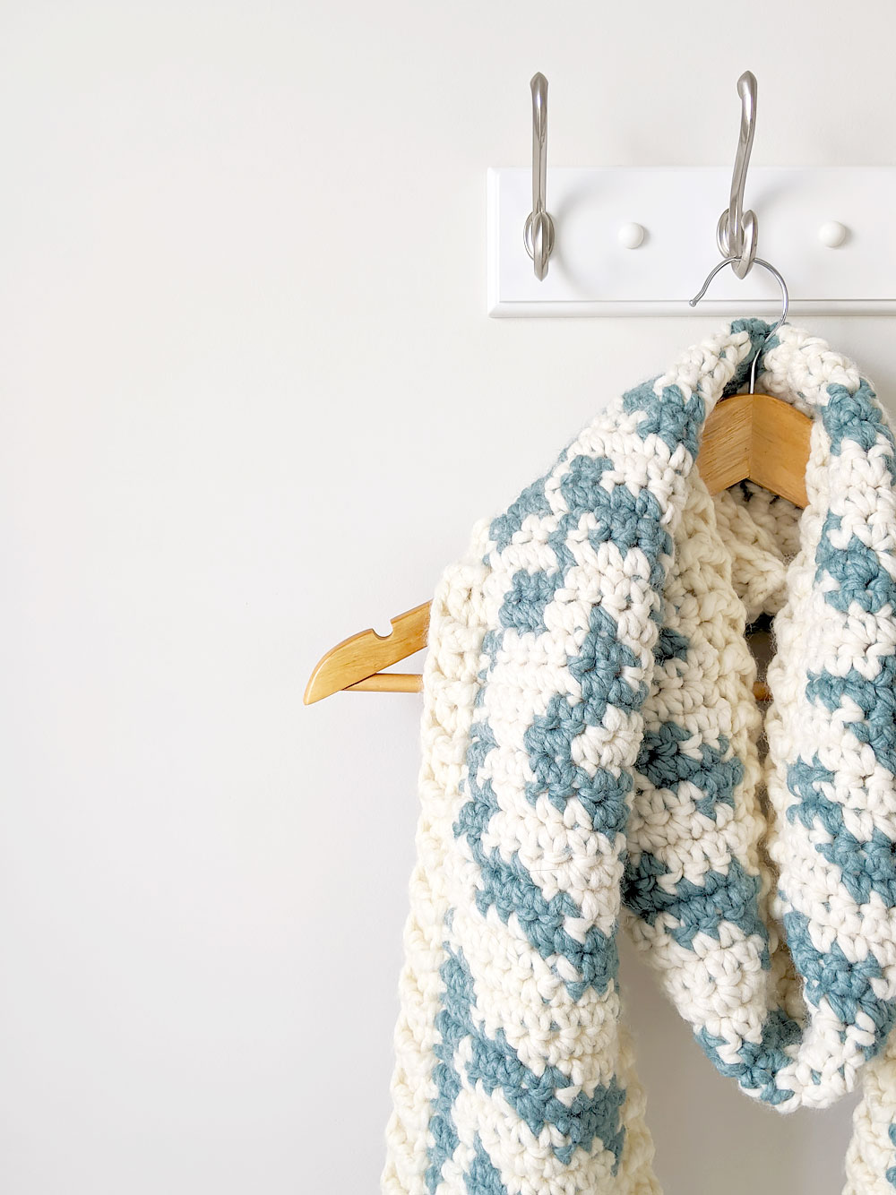 Zebra Print Scarf | Free Pattern by Just Be Crafty