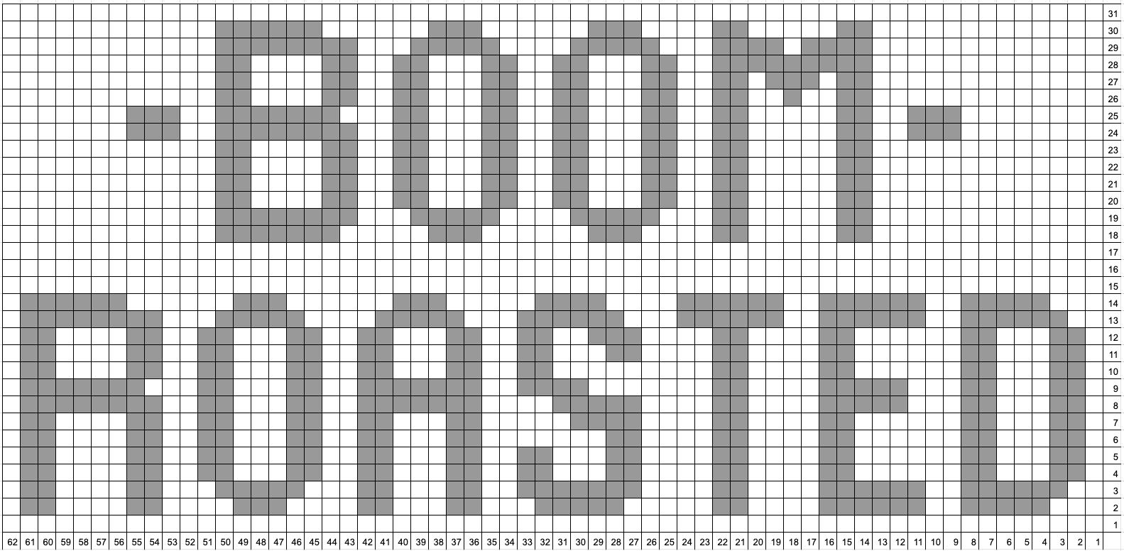 Boom roasted intarsia grid