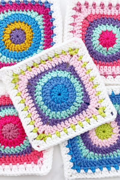 Prismatic Circle Granny Square